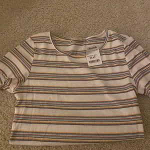 NWT multicolor striped tee
